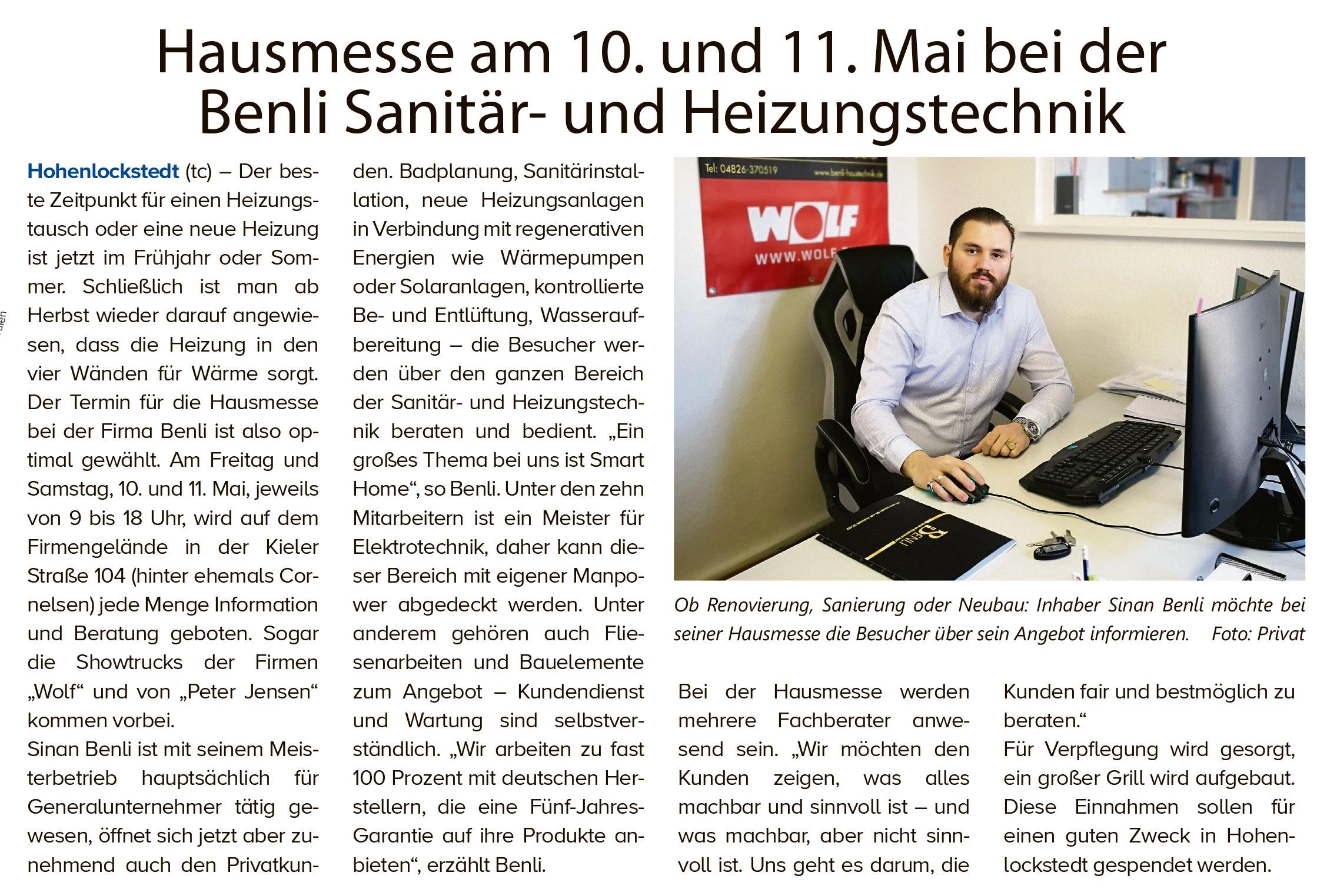 benli_sanitaertechnik_heizungstechnik_haustechnik_hohenlockstedt_anzeiger